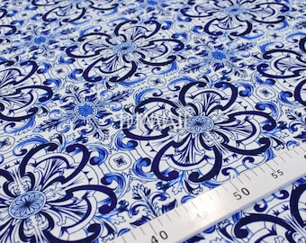 Blue fabric by the yard #4562