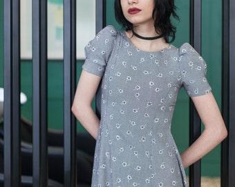 Black and White Midi Dress