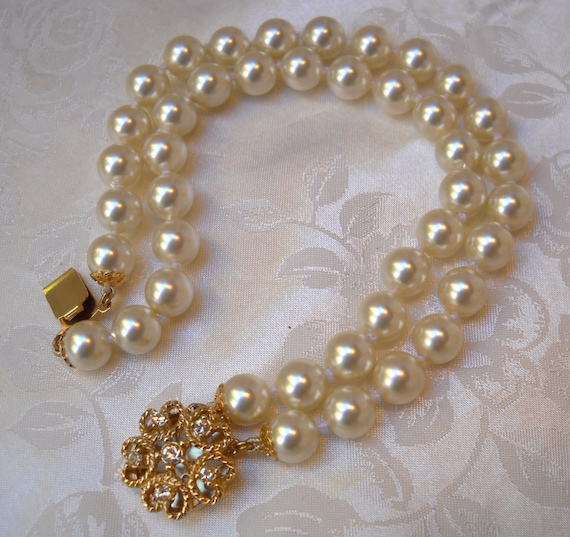 Mallorca Pearl Necklace: Majorca/Mallorca Pearl Bracelet Double Strands 7.5 8mm
