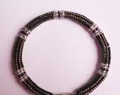 Bangle Bracelet / Japanese Beaded Bracelet / Brown Beaded Bracelet / Herringbone Seed Bead Bracelet / Unique Gifts for Women / WC72001