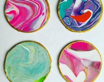 Marbled Coaster Set