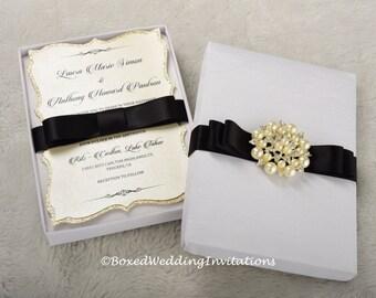 Silk Invitation Box - Boxed Invitation