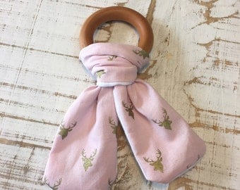 Pink Deer Teether