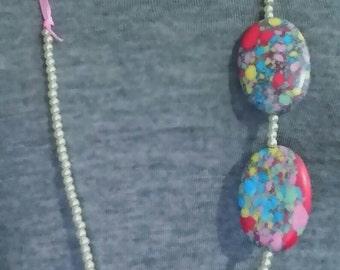 Paisley Pearl Ribbon Necklace