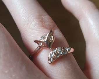 Stunning Rose Gold Fox Ring