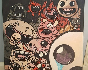 The Binding of Isaac acrylic painting on 16x20 canvas