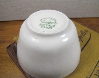 Buffalo China - Custard Cup - Restaurant Ware - 1310R - Creamy White