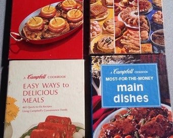 Campbell's & Betty Crocker Small Cookbooks - Lot of 4 Vintage Cook Books