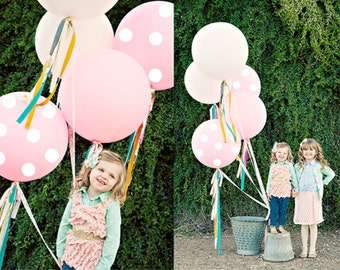 "36"" Giant Round Polka Dot Balloons // Wedding Decor // Birthday Party // Paper and Party Supplies"