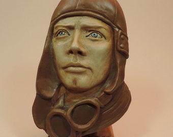 Sculpture of Aviator, Charles Lindbergh