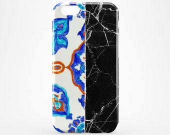 Moroccan Phone Case Black Marble iPhone 7 Case Morocco iPhone 6 Case Bohemian iPhone 7 Plus Case iPod Xperia Morocco Galaxy Case iPhone 4-5
