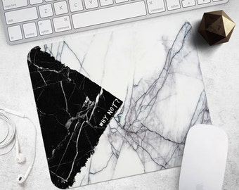 MousePad Black Marble Mouse Pad Birthday Gift Men Mouse Mat Quote MousePad White Marble MousePad Style MouseMat Accessories Office Supplies