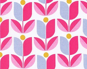 SALE**Pink Modern Flower Fabric from Joel Dewberry's True Colors Collection by Free Spirit