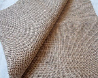 """8 OZ Jute Natural Burlap Fabric 40"""" Wide - Sold by the meter"""