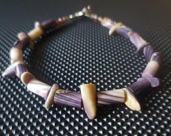 All Wampum Beads, Native American Wampum jewelry braclet