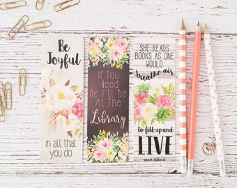 Planner Accessories - Bookmark - Graduation Gift - Book Lover Gift - Book Club Gift - Gifts for Her - Christmas In July