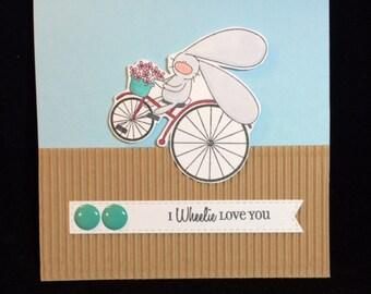 I Wheelie Love You Greeting Card