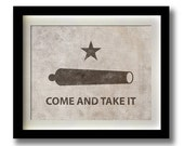 Come And Take It Battle of Gonzales Texas Revolutionary Flag Print - 11x14""