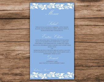 Download floral vines menu card template, all colors available, instant download, 001-015