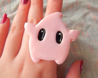 SALE Pastel Pink Nintendo Super Mario Galaxy Luma Adjustable Ring