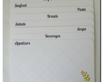 Recipe Box Dividers Only for 4x6 cards