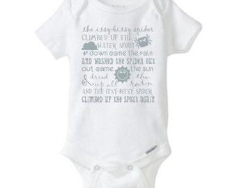 Baby Onesie - Itsy Bitsy Spider Nursery Rhyme