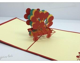 3D Pop Up Balloon Card