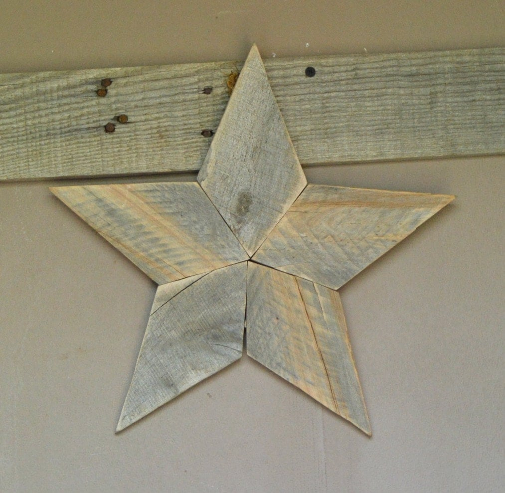Wood star rustic star decor star wall decor farmhouse star - Stars for walls decorating ...