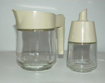 Vintage Gemco creamer and sugar dispenser.