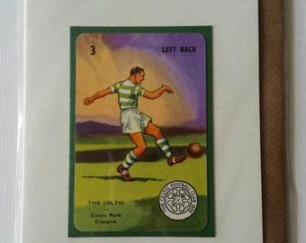Original 1950s 'Goal' card The Celtic