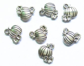20pcs 10x11mm Halloween Pumpkin Charms Pendants Findings Jewelry Accessories A