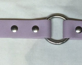 Lavender DayGlo Collar Beta Collar Biothane Collar Dog Collar Hound Collar Hunting Collar Stainless Steel Hardware FREE NAMEPLATE