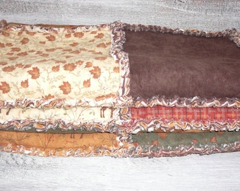 Cozy Handmade  Flannel Rag Quilt Throw