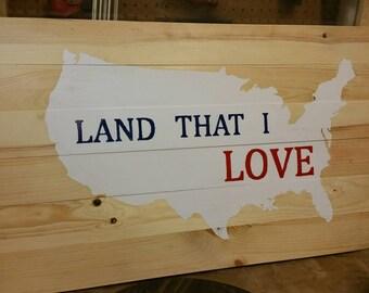 Land That I Love Wall Art