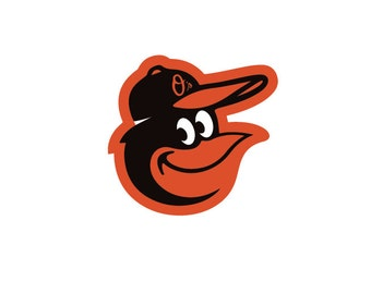 Full Color Baltimore Orioles - Die Cut Decal