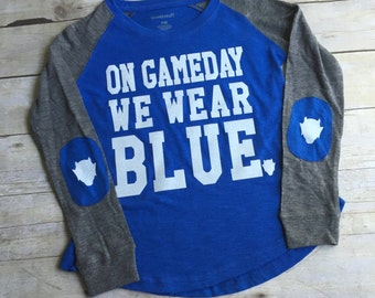 Girl's GameDay Elbow T-Shirt, Spirit Shirt, Basketball Shirt, GameDay Spirit, Girls SpiritWear, Cheerleaders, Collegiate SpiritWear, School