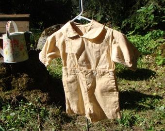 1930s Little Boys Khaki Shirt and Short Ensemble