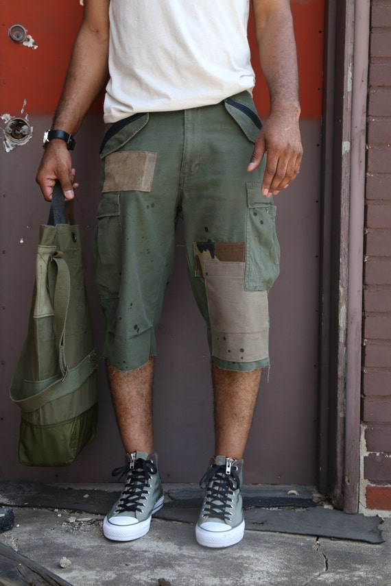 CL patch work cargo shorts