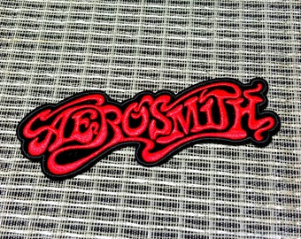 Aerosmith Embroidered Iron -On Patch 1 1/4'' X 4 1/2''