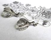 Bird Claw Earrings Silver