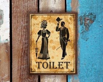 Restroom Sign (Wood Sign, Door Sign, Funny Sign, Decor Bathroom, Decor Home)
