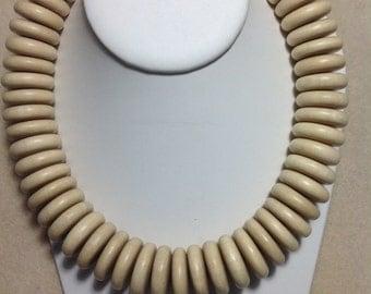 White Wood 25 x 8 mm  Heishe Beads!