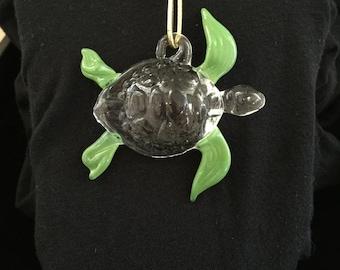 Glass Ornament Turtle (Honu)