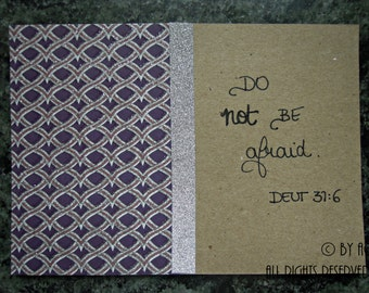 Mantra card - Do not be afraid
