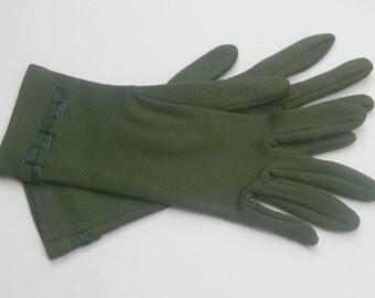 50 he j. padded, green gloves