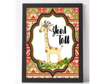 Stand Tall Baby Giraffe Nursery Art 8x10 Printable
