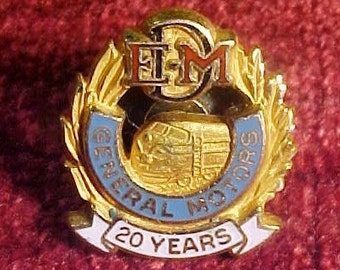 EMD Electro Motive Division of General Motors 20 Year Service Pin
