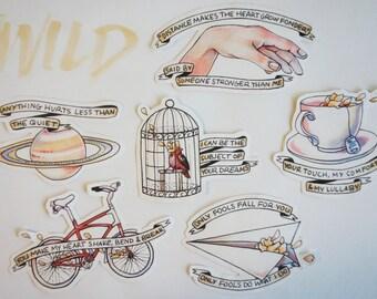 Troye Sivan WILD Sticker Set
