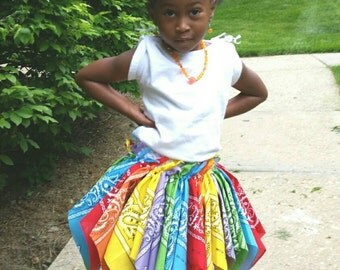 Toddler Bandana Skirt- Custom Bandana Tutu Skirt- Birthday Tutu Skirt- Cowgirl Skirt- cowgirl outfit- cowgirl birthday outfit- cowgirl tutu