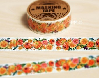 10M ROSE 15mm Washi Tape, Pastel Washi Tape, Embellishment, Craft Tape, Gift Wrap, DIY Decorative Tape A263